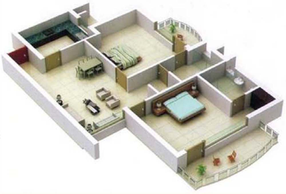 600 sq ft 1 bhk 1t apartment for sale in the visava group for Interior design 600 sq ft flat