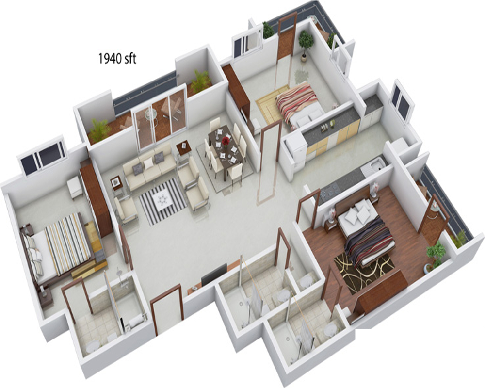1940 sq ft 3 bhk 3t apartment for sale in kirthi for 3d printer house for sale