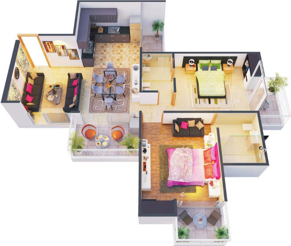 1100 sq ft 2 bhk 2t apartment for sale in the antriksh for 1100 sq ft apartment floor plan