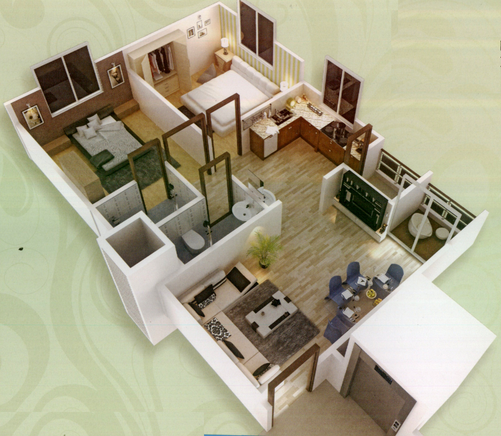 1000 sq ft 2 bhk 2t apartment for sale in sakar for 1000 sq ft 2bhk house plans