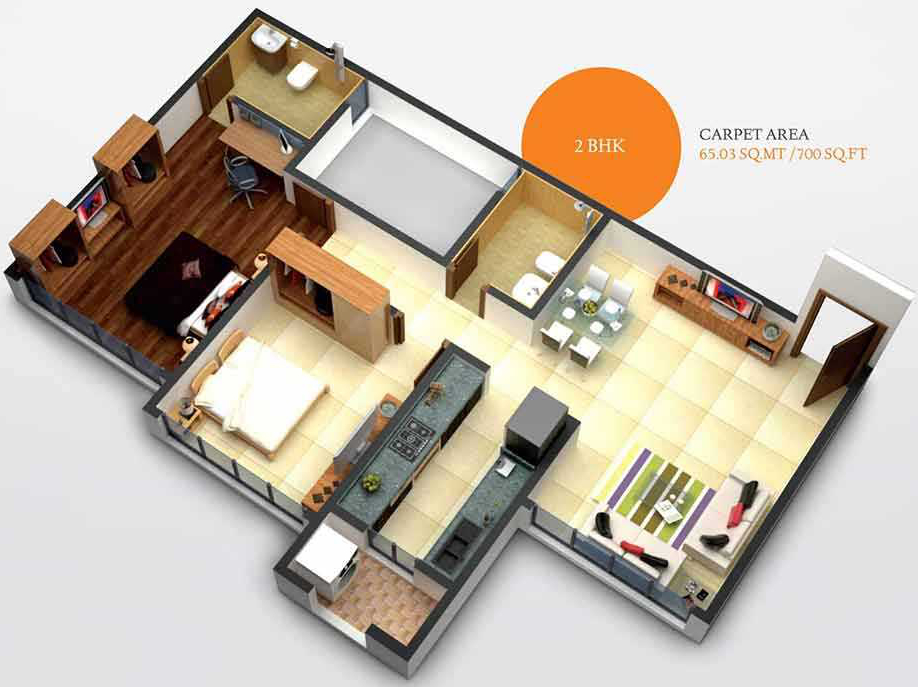 700 Sq Ft 2 Bhk 2t Apartment For Sale In Mayfair Housing