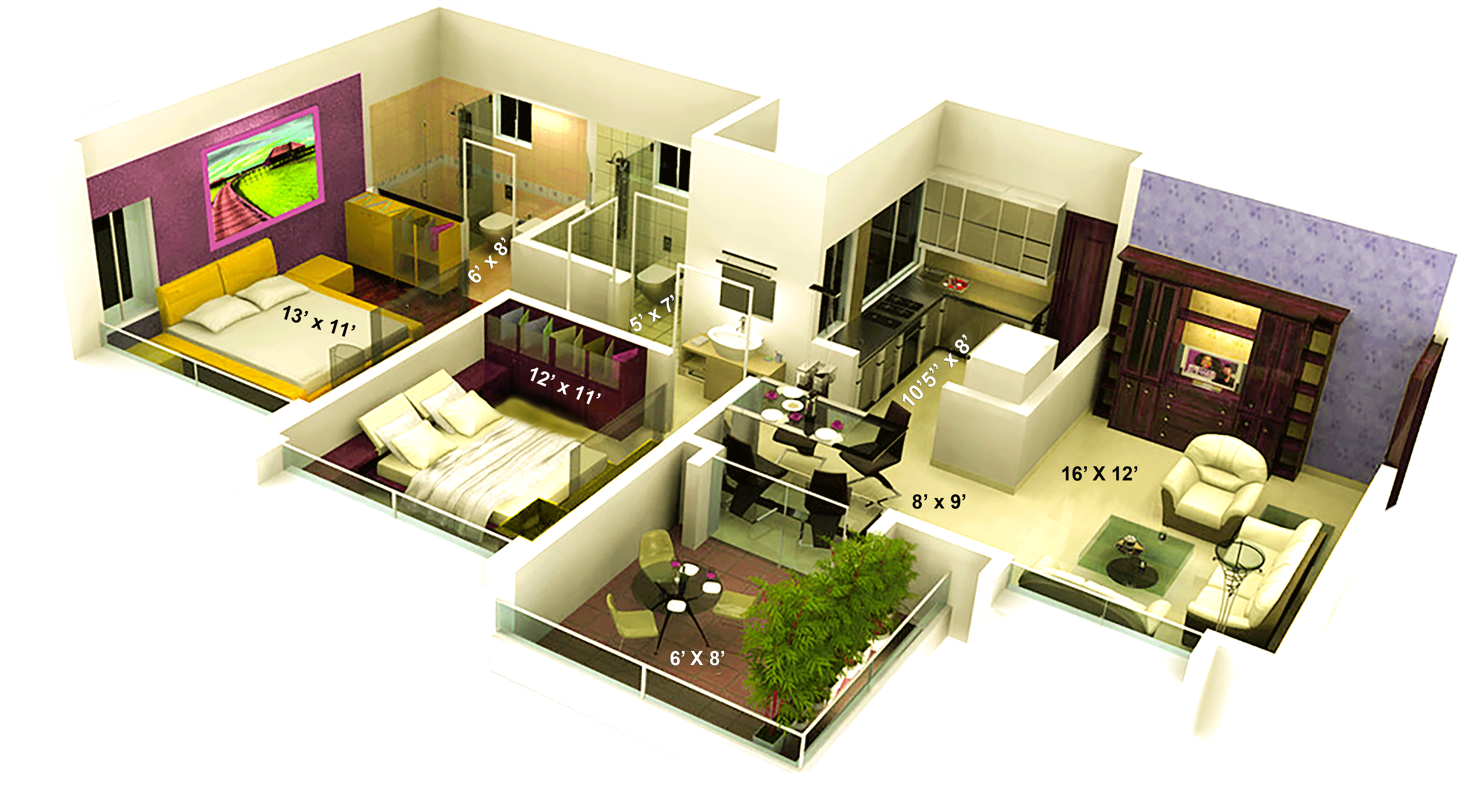 1000 sq ft 2 BHK 2T Apartment for Sale in Kamp The Crystal Residency Zone L D