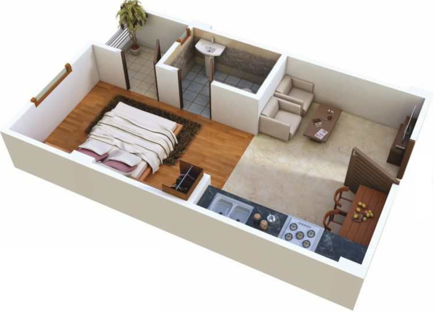 450 sq ft 1 bhk 1t apartment for sale in samanvay group for 1 bhk living room interior