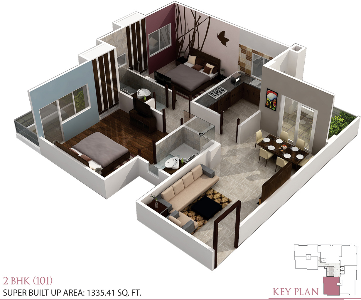 1227 Sq Ft 2 Bhk 2t Apartment For Sale In Kgk