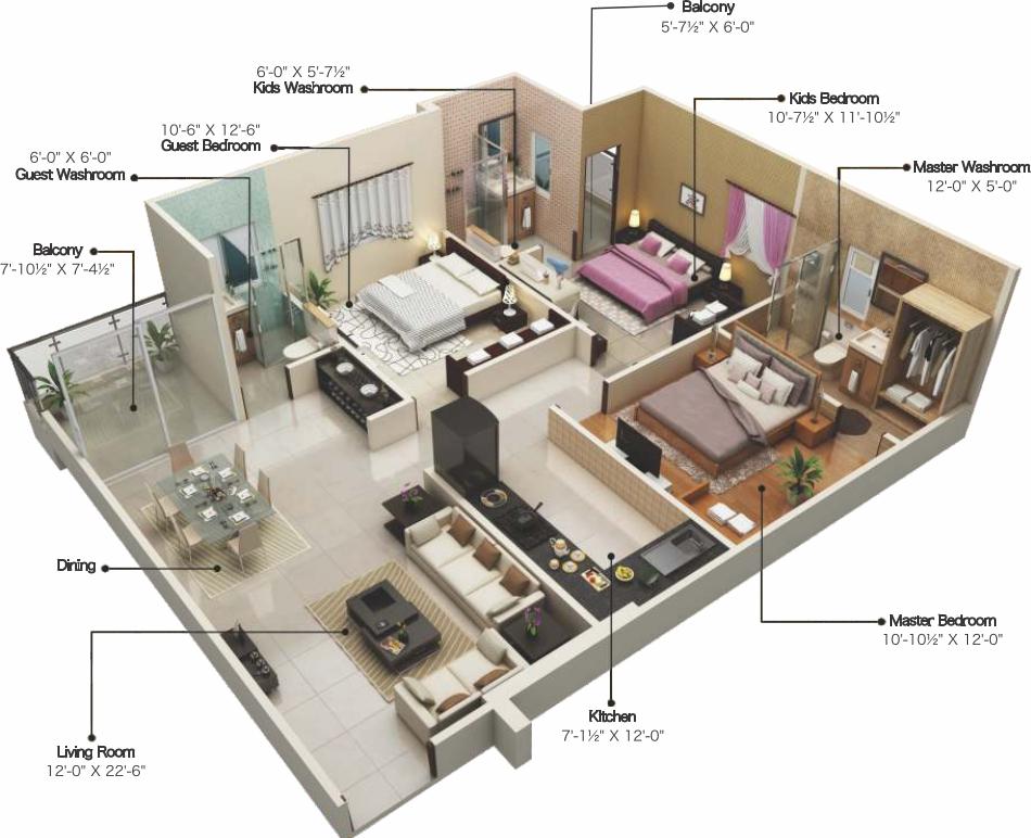 1500 Sq Ft 3 Bhk 3t Apartment For Sale In Veto Verve Jawahar Nagar Jaipur