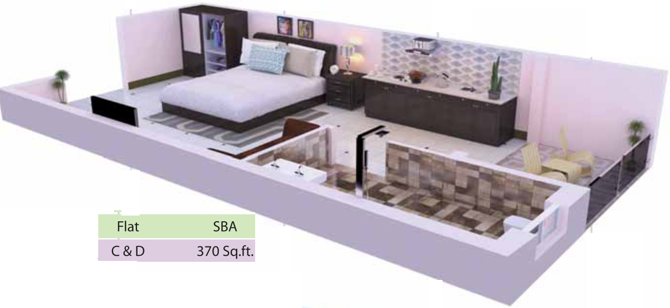 370 sq ft 1 bhk 1t apartment for sale in jaas realty