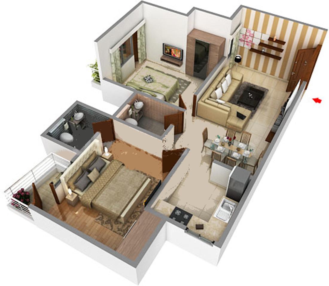 Home Designer Architecture House Designs 1450 Sq Ft 3 Bhk 3t Apartment For Sale In Delhi Infratech Delhi
