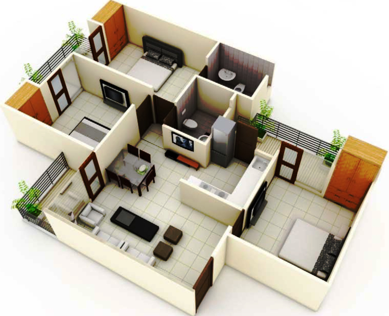 1300 Square Feet House Plans India