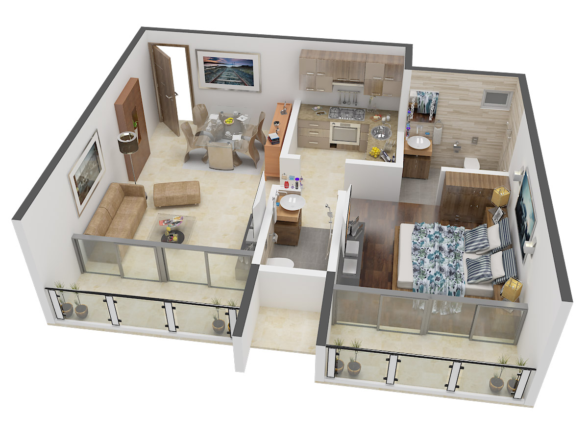 675 sq ft 1 bhk 2t apartment for sale in ruparel realty for 675 sq ft floor plan
