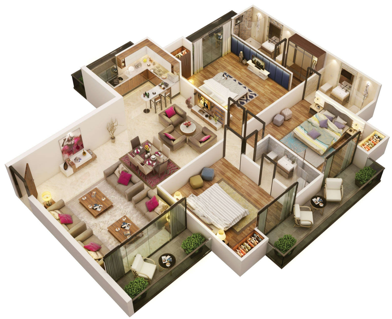 5954 sq ft 6 bhk 6t apartment for sale in the antriksh group the golf address sector 150 noida - Dream home floor plan model ...