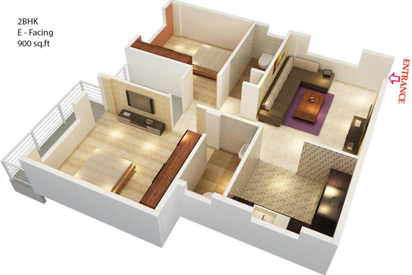 900 sq ft 2 bhk 2t apartment for sale in vibrant for Floor plans 900 sq ft apartment