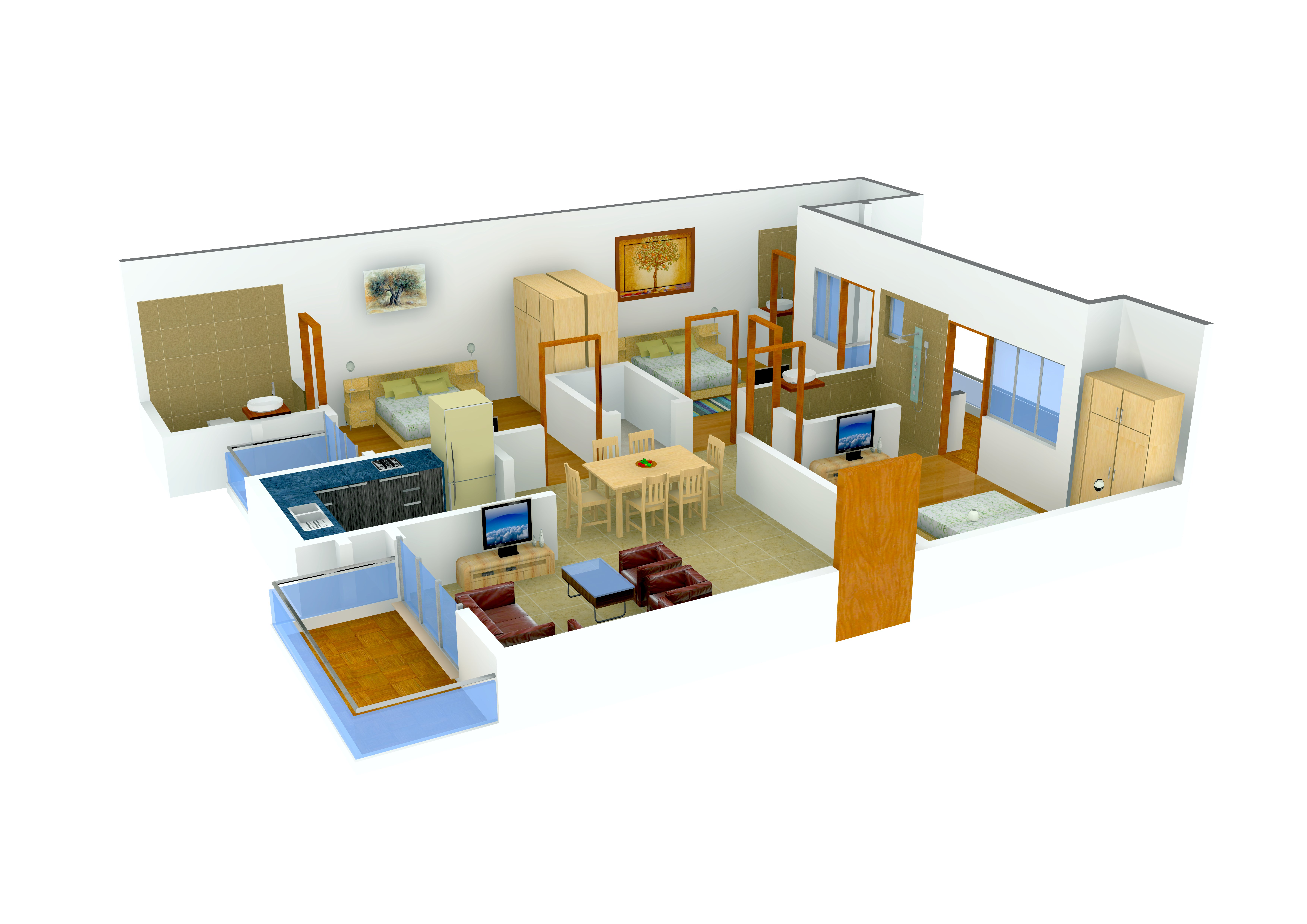 1480 sq ft 3 bhk 2t apartment for sale in land craft for Landcraft homes floor plans