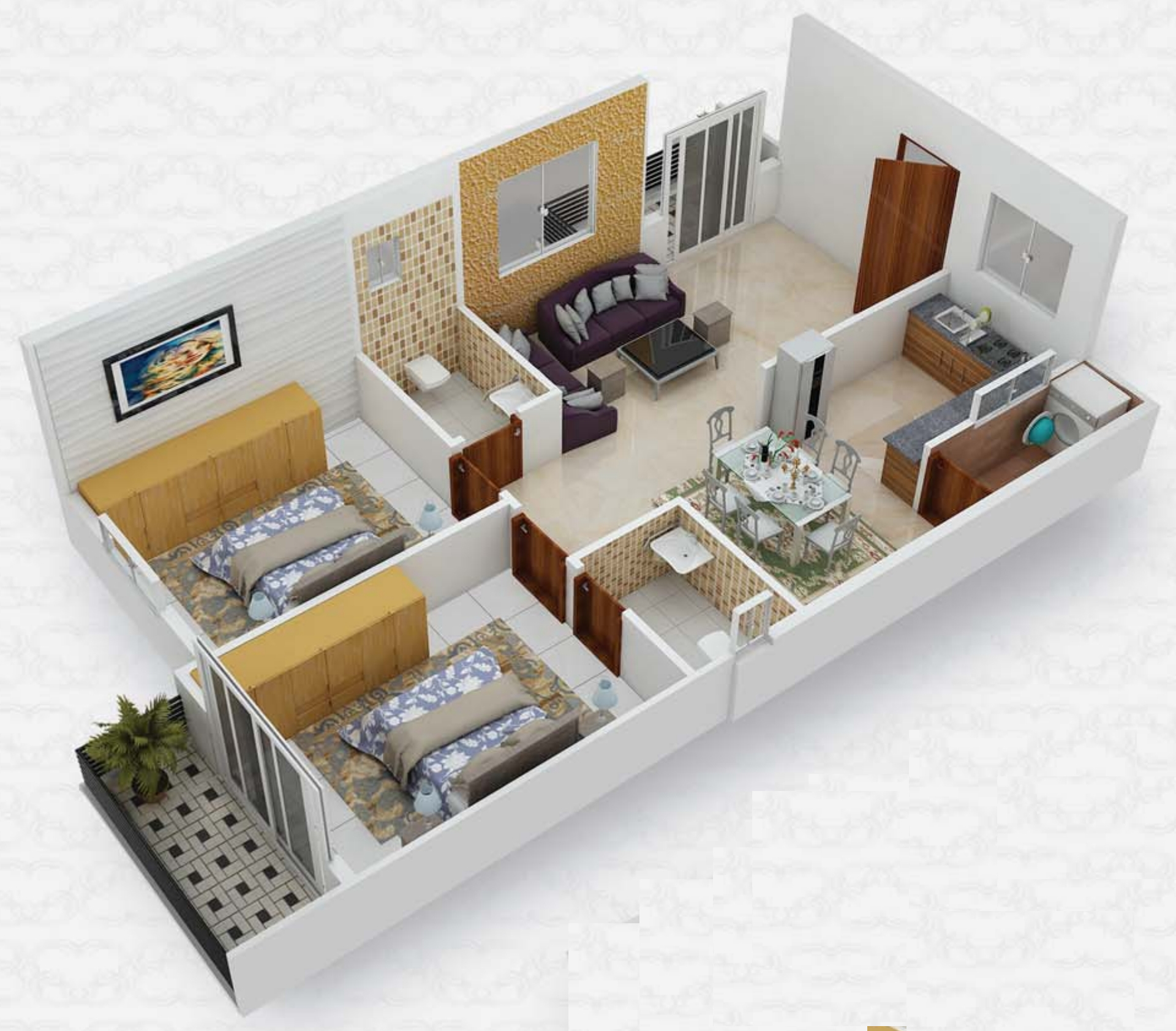 1000 Sq Ft 2 Bhk 2t Apartment For Sale In Home Town Group