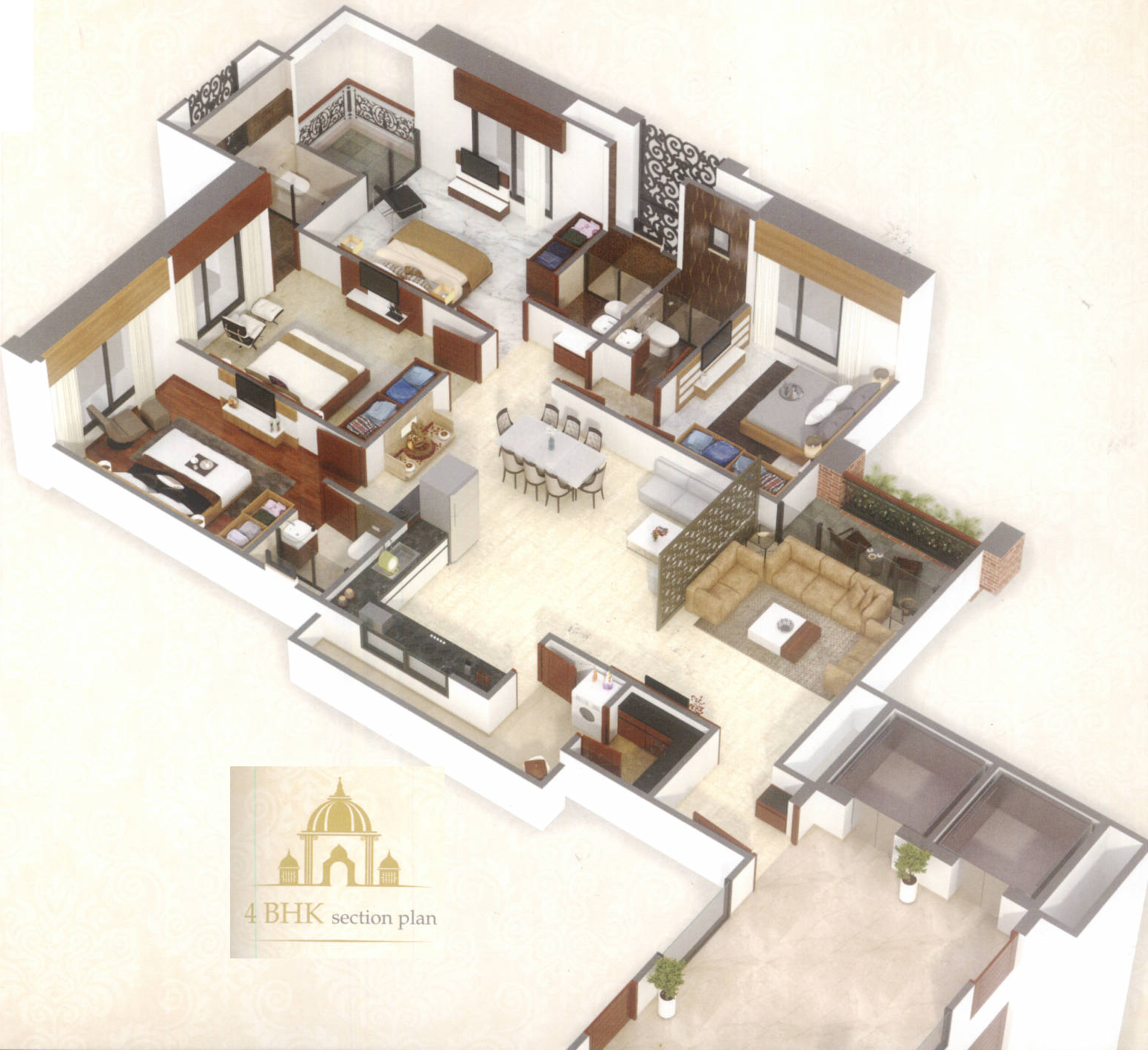 4200 sq ft 5 bhk 5t apartment for sale in riseon shivanta for 4200 sq ft house plans