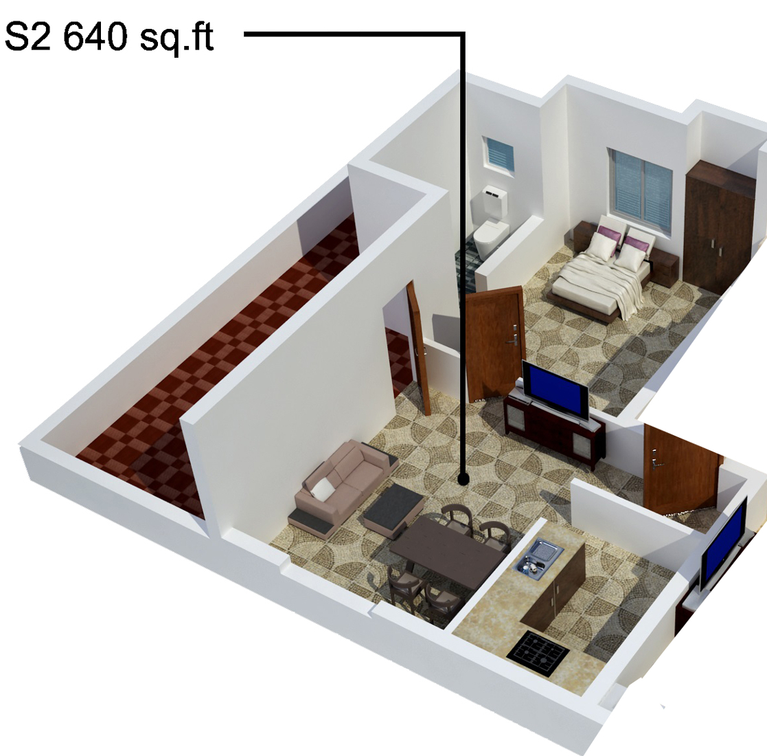 640 Sq Ft 1 Bhk 1t Apartment For Sale In S Promoters