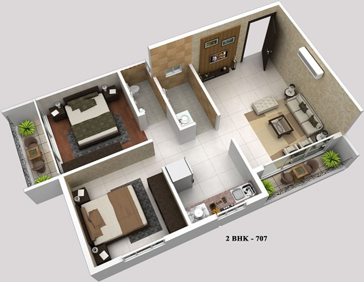 550 sq ft 1 bhk 1t apartment for sale in sg group mumbai sky town neral mumbai. Black Bedroom Furniture Sets. Home Design Ideas
