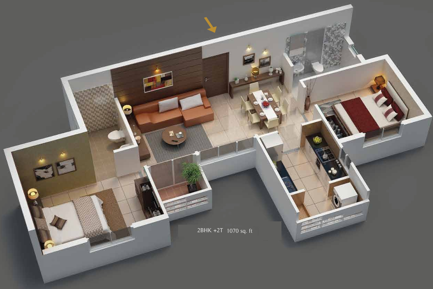 1450 Sq Ft 3 Bhk 3t Apartment For Sale In Kg Builders One