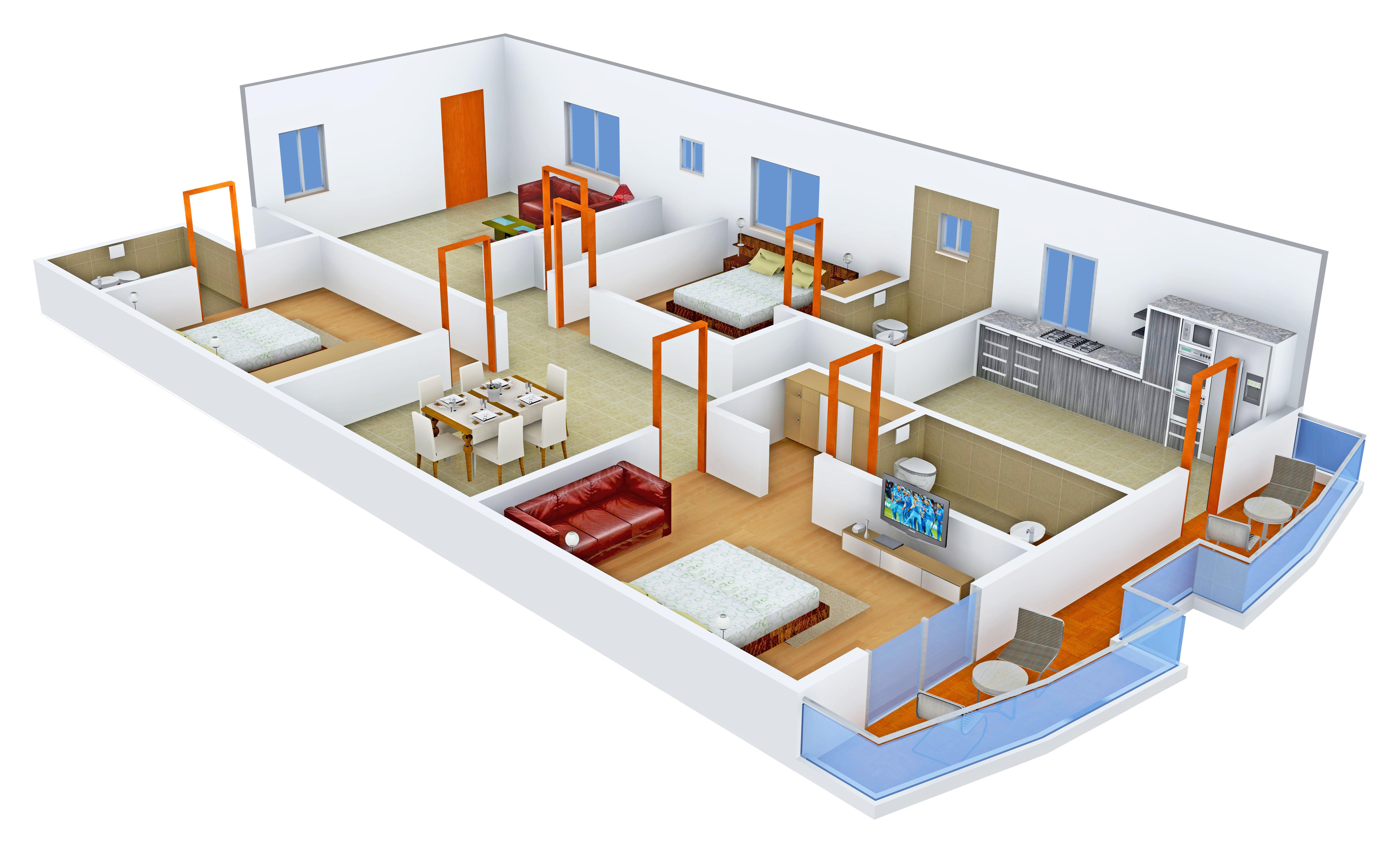 2497 sq ft 3 BHK 3T Apartment for Sale in Vaishnavi Estate ...
