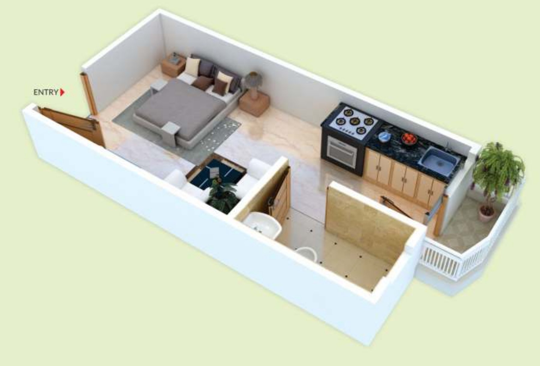 300 sq ft 1 bhk 1t apartment for sale in unnati group for 300 sq ft