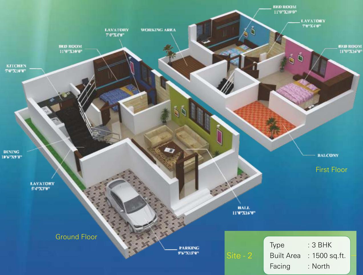 1500 Sq Ft 3 Bhk 3t Villa For Sale In Green Nest Ganapathy Garden Villas Saibaba Colony Coimbatore