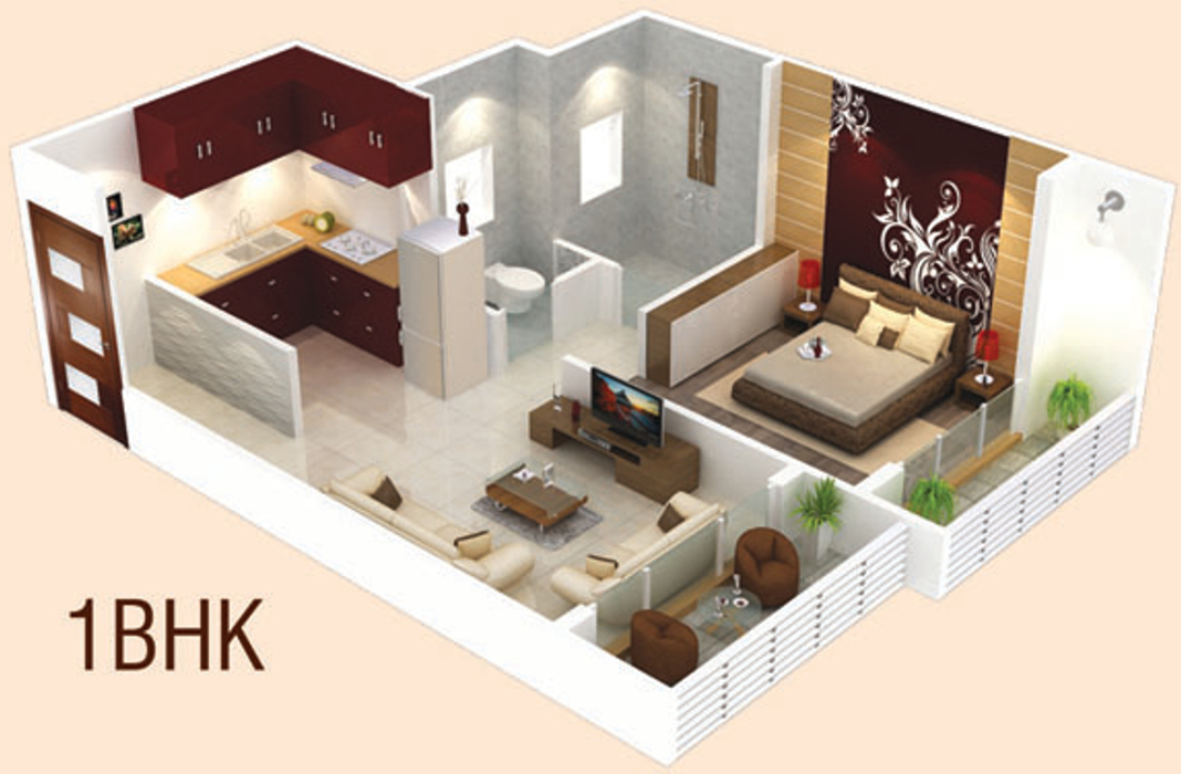 380 sq ft 1 bhk 1t apartment for sale in nk enterprises for 380 square feet floor plan