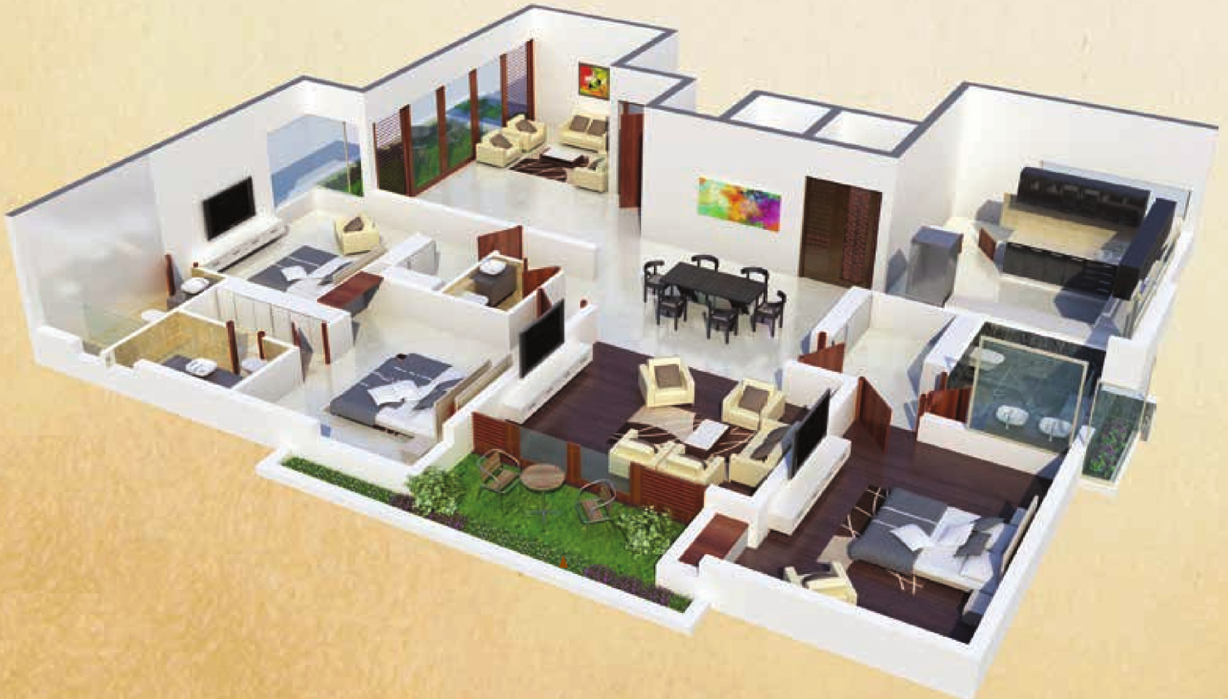 4000 sq ft 3 bhk 3t apartment for sale in northstar garden for 4000 sq ft modular homes