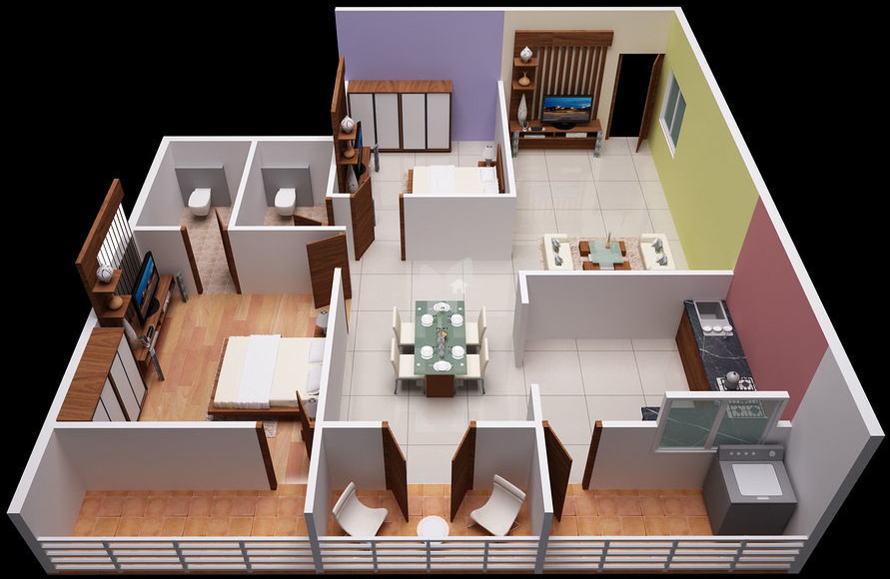1205 sq ft 2 bhk 2t apartment for sale in sunshine builders silicon oasis whitefield hope farm. Black Bedroom Furniture Sets. Home Design Ideas