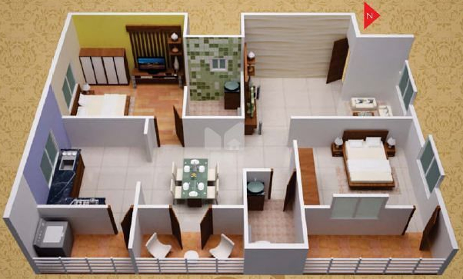 1260 sq ft 2 bhk 2t apartment for sale in sunshine builders silicon oasis whi. Black Bedroom Furniture Sets. Home Design Ideas