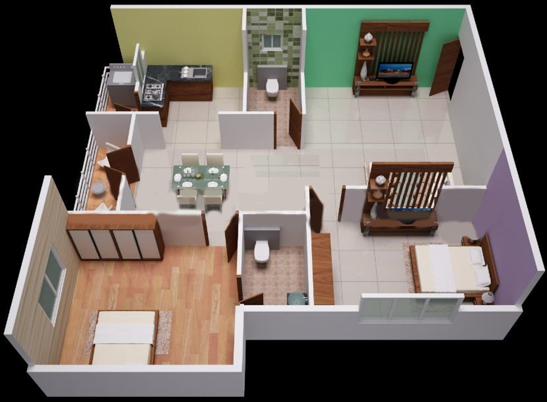 1280 sq ft 2 bhk 2t apartment for sale in sunshine builders silicon oasis whitefield hope farm. Black Bedroom Furniture Sets. Home Design Ideas