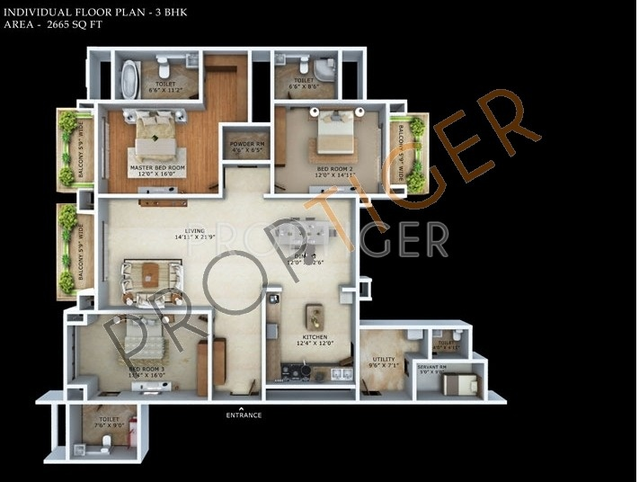 15 New Mantri Espana Floor Plan
