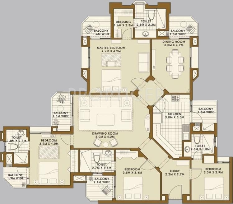 2200 Sq Ft 4 BHK 4T Apartment For Sale In ATS Green Golf