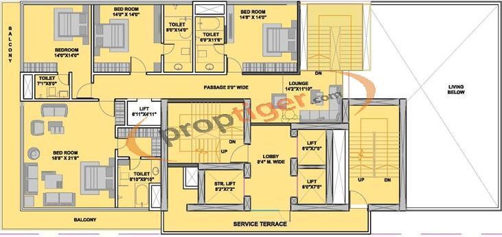 5 bhk 5t apartment for sale in hubtown wave mahalaxmi mumbai for 5 bhk duplex floor plan