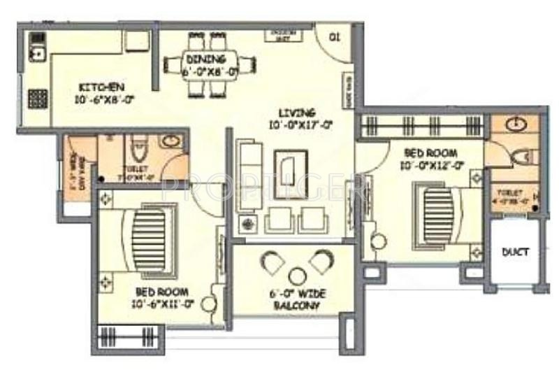 950 sq ft 2 bhk 2t apartment for sale in gala group pride for 950 sq ft