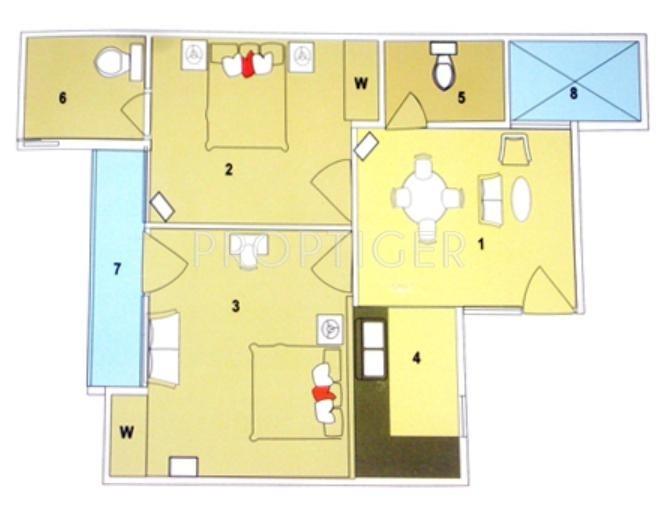 600 Sq Ft 2 Bhk Floor Plan Image Dexterous Builders