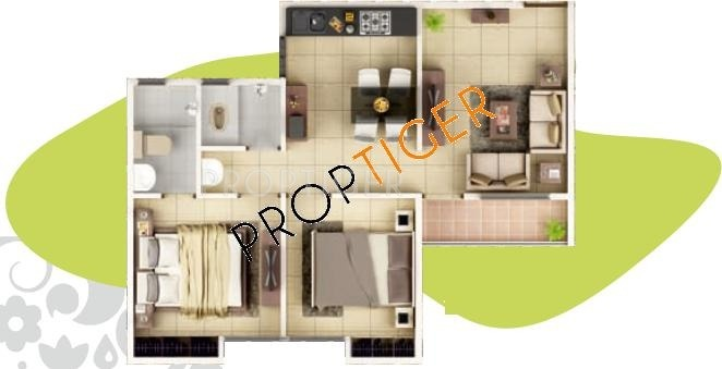 770 Sq Ft 2 Bhk 2t Apartment For Sale In Jalan Eco Valley