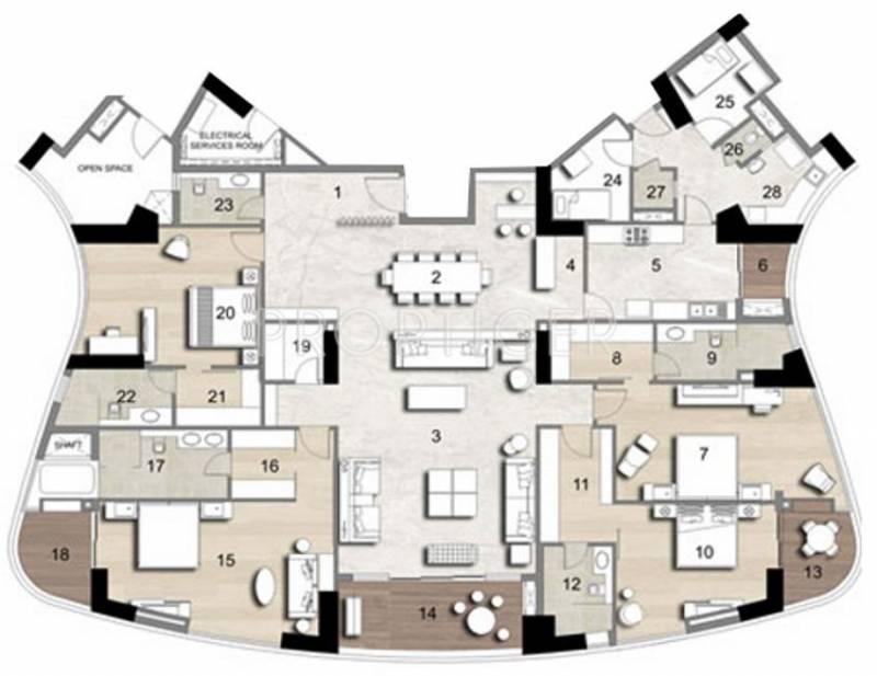 Jaypee Boomerang Residencess (4BHK+4T (5,180 sq ft) 5180 sq ft)