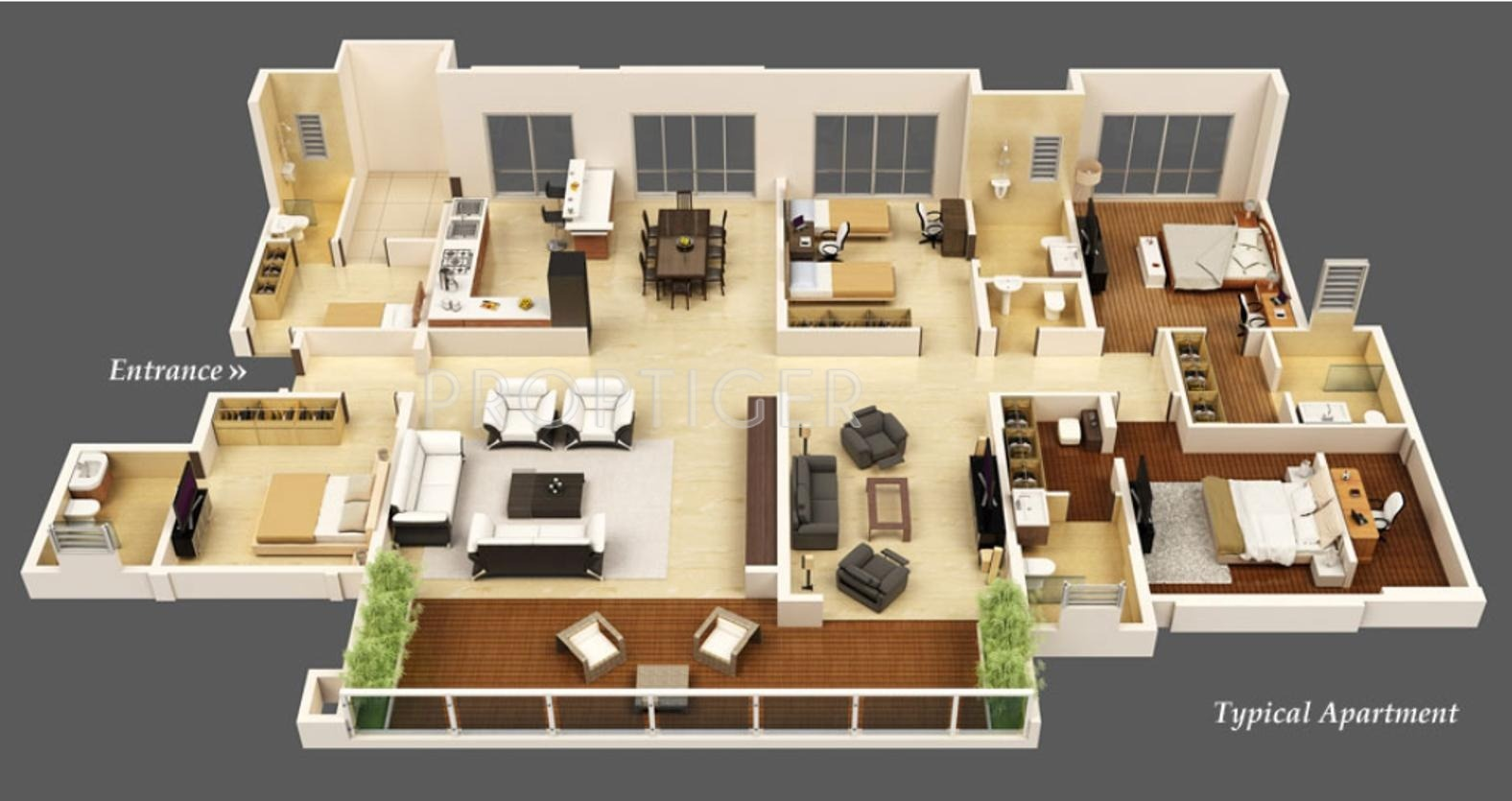 Kasturi housing the balmoral estate in baner pune price for Floor plan for 4bhk house