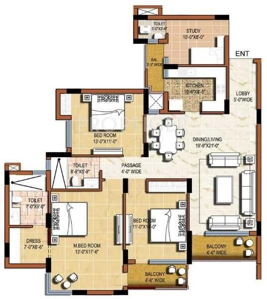 1900 sq ft 3 bhk 3t apartments in omaxe grand sector 93b for 1900 sq ft