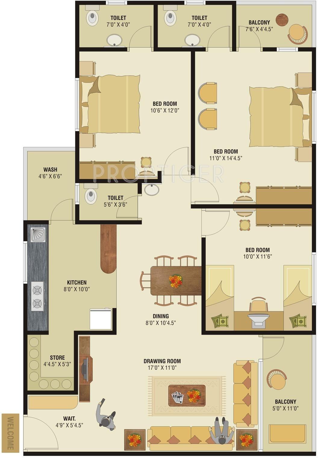 Krishna sun residency in motera ahmedabad price for X2 residency floor plan