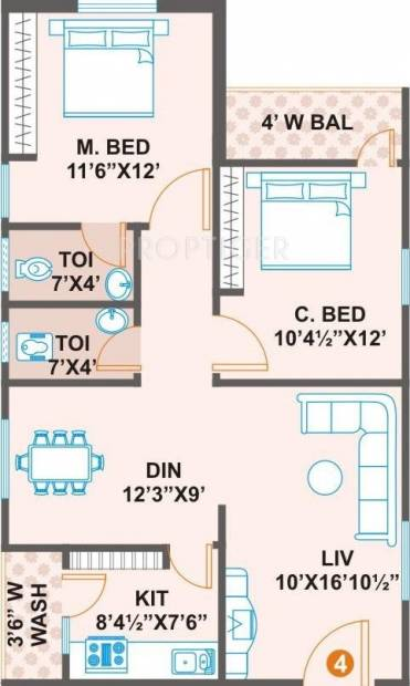 1000 sq ft 2 bhk floor plan image prime construction vs for 1000 sq ft 2bhk house plans