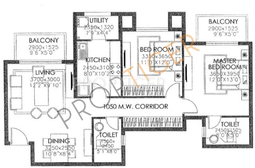 1300 Sq Ft 2 Bhk 2t Apartment For Sale In Dlf Westend