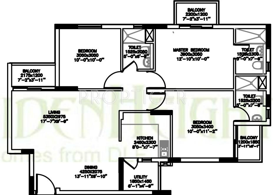 1230 sq ft 3 bhk 3t apartment for sale in dlf maiden