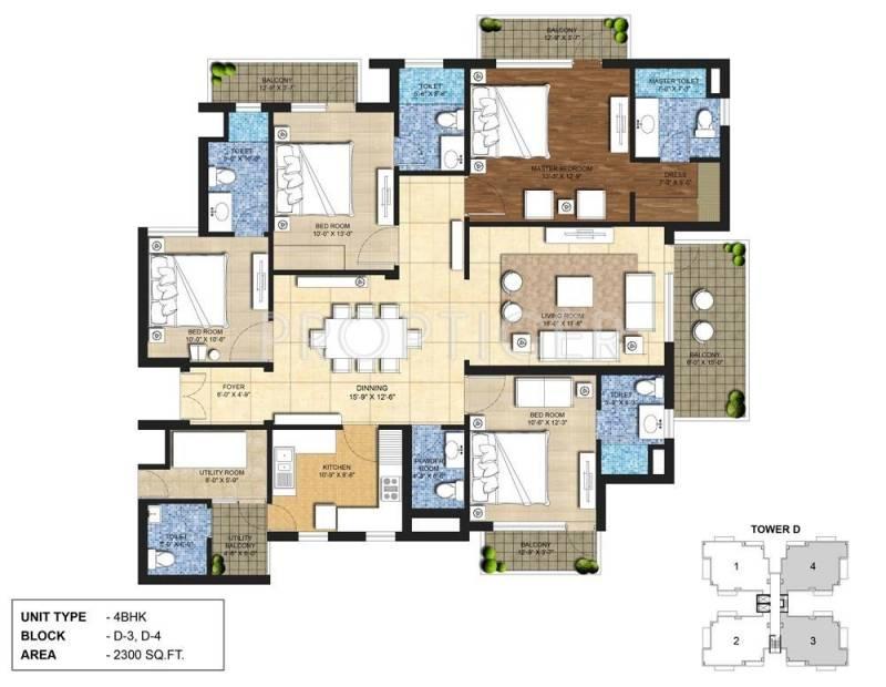 Indiabulls Centrum Park (4BHK+5T (2,300 sq ft) + Servant Room 2300 sq ft)