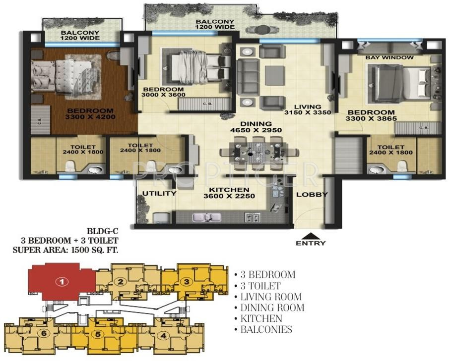 Aarcity regency park in sector 16c noida extension noida price location map floor plan for Cost to paint 1500 sq ft house interior