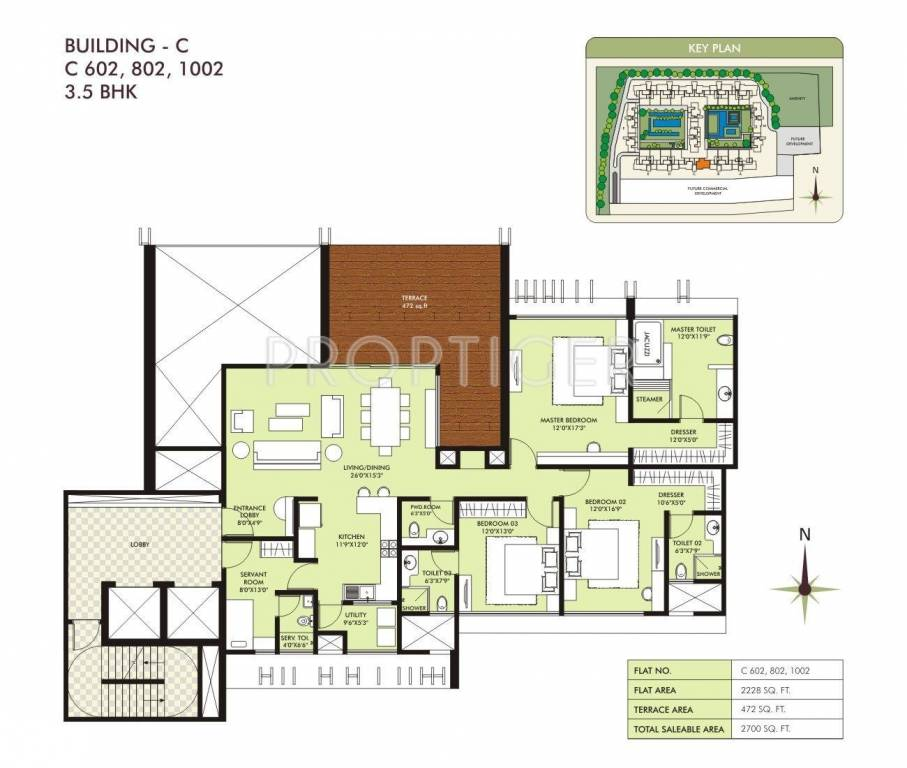 2700 sq ft 3 bhk 3t apartment for sale in marvel realtors for 2700 square foot house cost