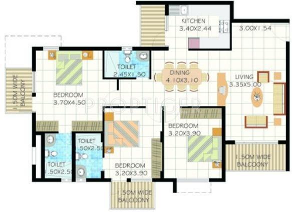 Edcon real estate developers rio grande in panjim goa for Real estate floor plan pricing