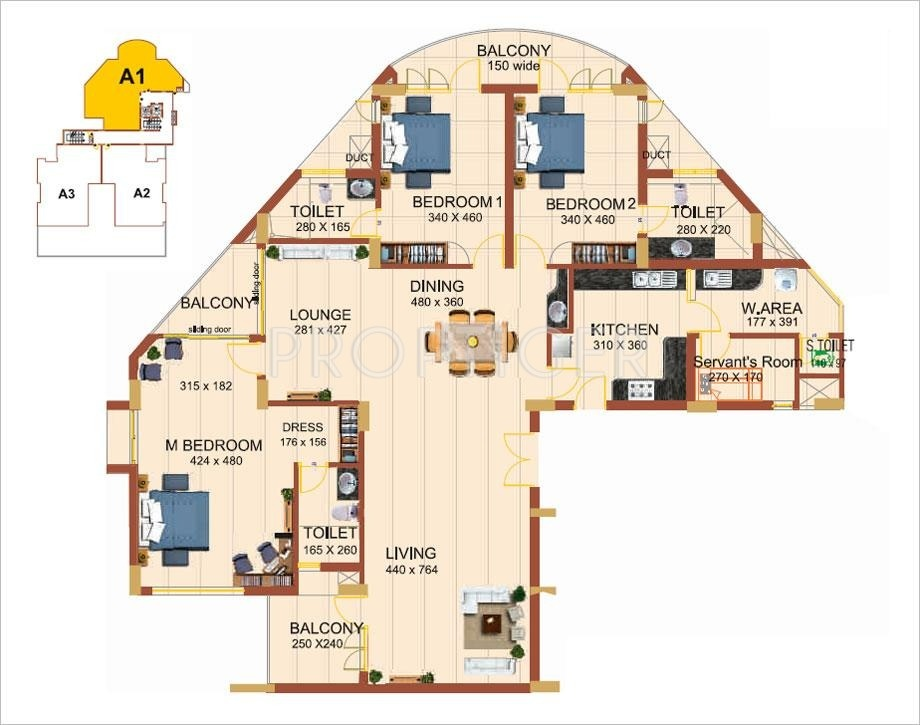 2700 sq ft 3 bhk 3t apartment for sale in artech realtors for 2700 square foot house cost