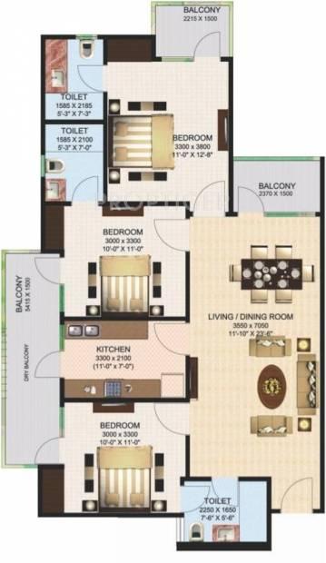 Aims Green Avenue (3BHK+3T (1,440 sq ft) 1440 sq ft)