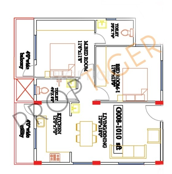 1010 Sq Ft 2 Bhk 2t Apartment For Sale In Vascon