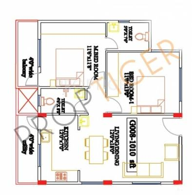 1010 sq ft 2 bhk 2t apartment for sale in vascon for 1010 family plan